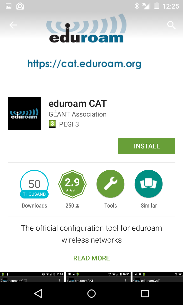 Az eduroam CAT program installálálsa